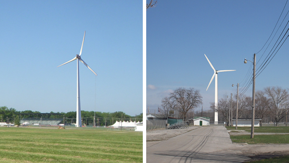 Proposed Turbine as viewed from Bagley Rd Entance to the Fairgrounds