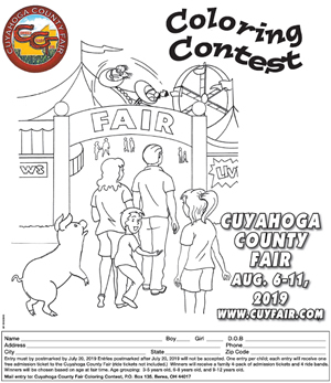 Cuyahoga County Fair Coloring Contest