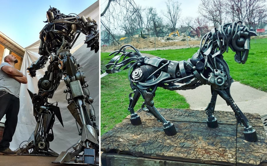 Metal Sculptor Michael Ensminger