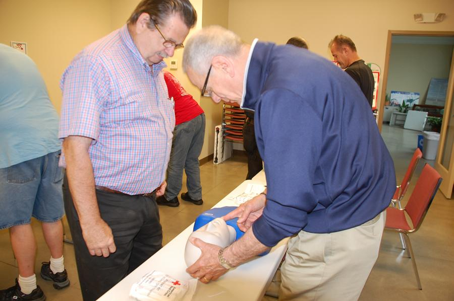 In preparations for this year's fair, many of the Cuyahoga County Fair Board recently took Red Cross Life-Saving Class with Jim Mikesina of the Cuyahoga County Fair Police - these guys keeping our fairgrounds safe fair week August 7th thru 13th.