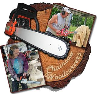 Chainsaw Woodcarvers Rick & Sue Cox